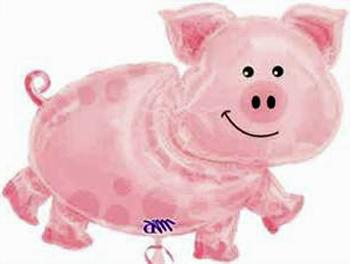 pig balloon pink pig shaped mylar balloon