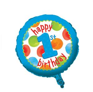 Blue 1st Birthday Balloon
