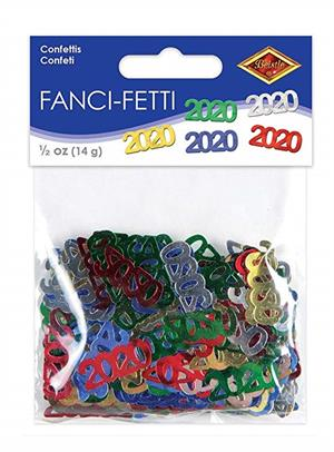Number 2020 Confetti Multi Color