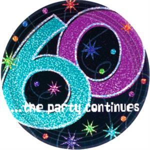 60th Birthday Cake Plates Teal Black And Purple
