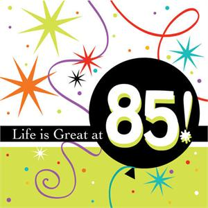 85th Birthday Napkins Bright Party