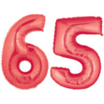 Number 65 Balloon Red