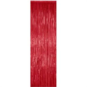 Red Metallic Curtain