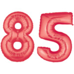 Red Number 85 Balloon, 40""