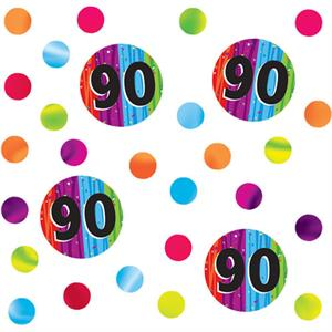 90th Birthday Confetti Milestone