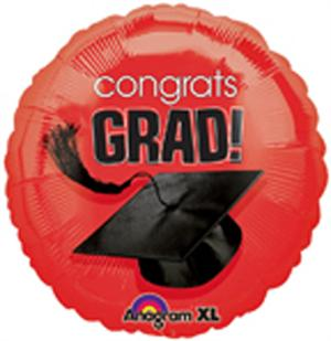 Red Graduation Balloon 18 inch round