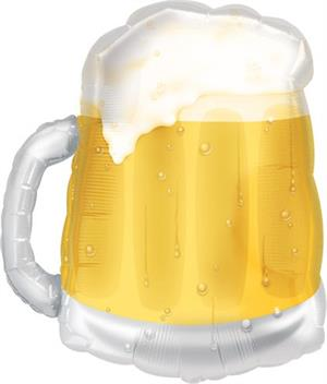 Beer Mug Shaped Balloon Clear with Foam