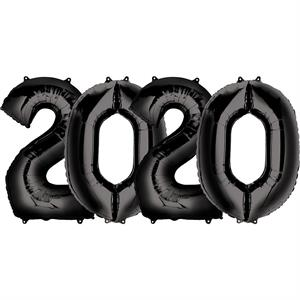 Number 2020 Balloons Black Large