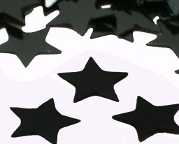 Black Star Confetti Large 3/4""