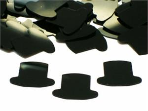 Top Hat Confetti Black Bulk or Packet