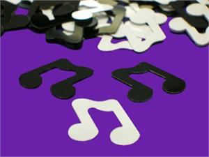 Bulk Black and White Music Note Confetti