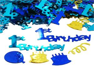 Blue 1st Birthday Confetti