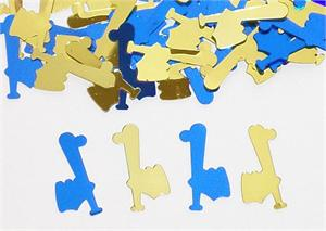 Baseball Theme Party Confetti Blue Gold