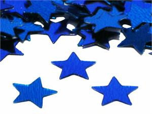 Blue Metallic Star Shaped Confetti