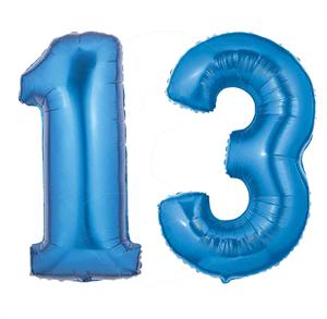 Blue Number 13 Balloon