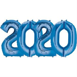 Large Number 2020 Balloons Blue