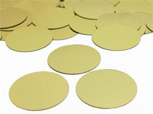 Round Metallic Gold Confetti by the Pound