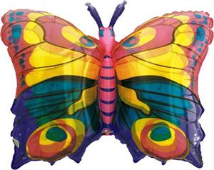 Butterfly Balloon Large Jewel Tone