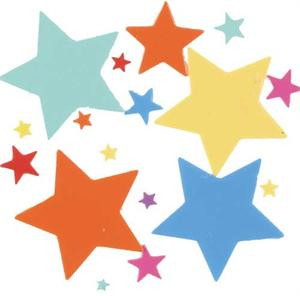 Star Shaped Confetti Assorted Medley