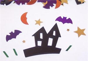 Haunted House Shaped Confeti, Bat Confetti