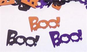 Boo Confetti Shaped like the word Boo