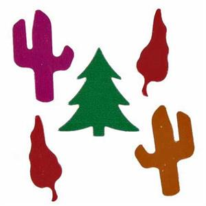Southwest Christmas Confetti Christmas Trees, Cactus and Chili Peppers