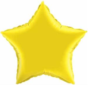 Citrine Yellow Star Shaped Balloons