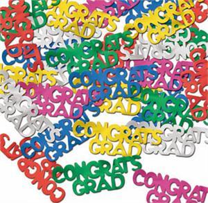 congrats grad confetti multi color metallic graduation confetti
