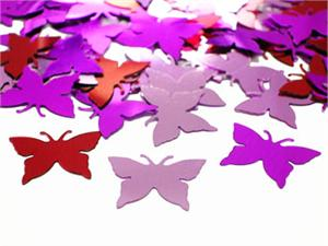 Metallic Butterfly Confetti, Red, Pink and Fuchsia