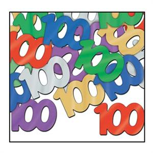 Deluxe Number 100 Confetti