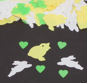 Easter Friends Confetti Bunnies, Chicks and