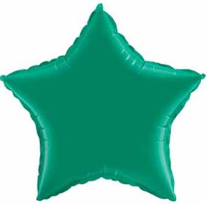 Emerald Green Star Shaped Mylar Balloons