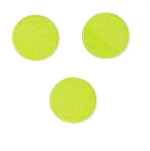 "Florescent Yellow Dots 1/4"" round florescent yellow confetti"