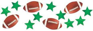 Football Confetti, 3 Pack