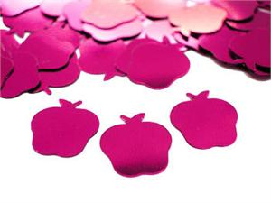 Metallic Apple Confetti Magenta
