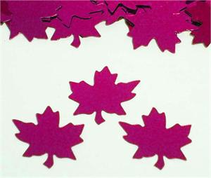Fuchsia Maple Leaf Shaped Confetti