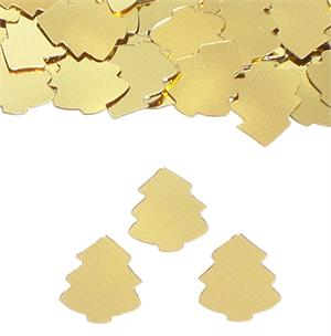 Gold Christmas Tree Confetti