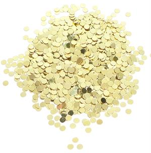 "Tiny Bulk Gold Round Confetti Metallic (1/8"")"