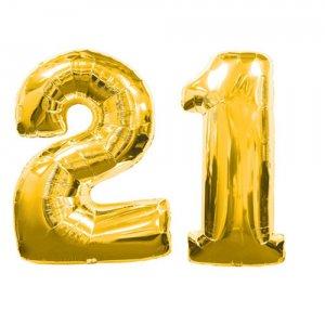 number 21 confetti multi colored metallic party confetti