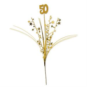 Glitter Gold Number 50 Centerpiece Sprays