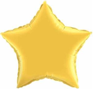 Gold Star Shaped Balloons