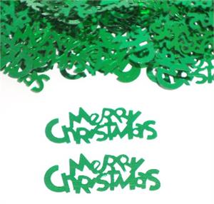 Green Merry Christmas Confetti