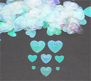 Iridescent Heart Shaped Confetti Assorted Sizes
