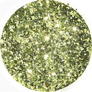 Lustrous Light Citrus Green Glitter