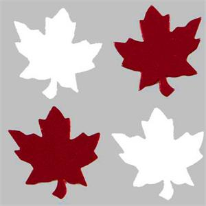 Maple Leaf Confetti Canada Theme
