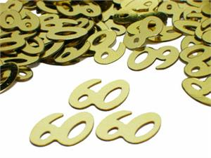 Metallic Gold Number 60 Party Confetti