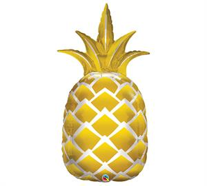Gold Pineapple Balloon Large