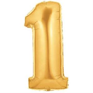 "Gold Number One Balloon Large (40"")"
