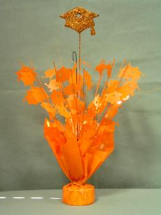 Orange Graduation Centerpieces