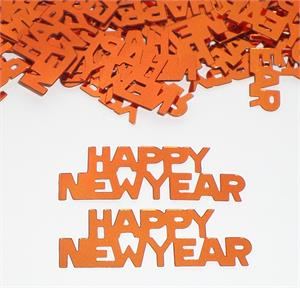 Orange Happy New Year Confetti